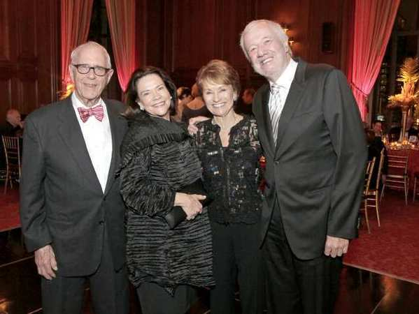 Fred and Suzanne Rheinstein, left, with La Caadans Nancy and Michael Harahan at the Los Angeles Chamber Orchestra benefit.