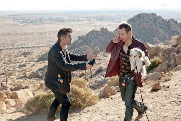 "Colin Farrell and Sam Rockwell star in ""Seven Psychopaths."""