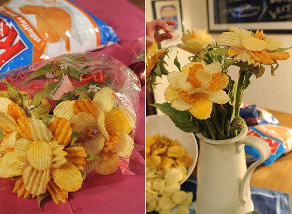 "A ""broquet"" made of chips"
