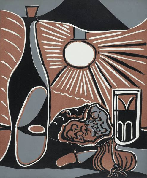 """Pablo Picasso's """"Still-Life with Lunch I"""" (1962)."""