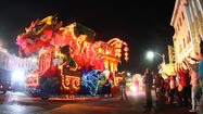 Time-lapse Video: Universal's Mardi Gras parade, 2013