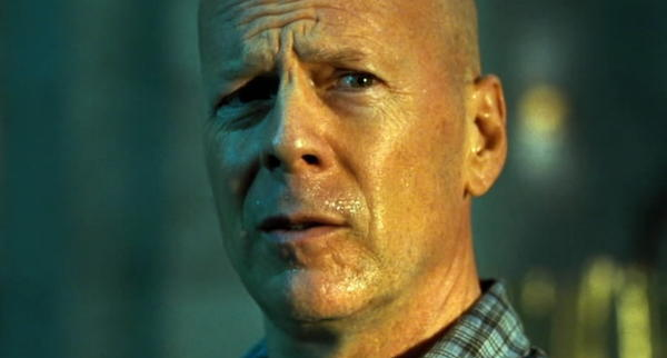 "In the ""Die Hard"" movies, John McClane, in no particular order, takes punches to the head; takes kicks to the head; takes knees to the head; takes karate chops to the head; takes a hard landing with a parachute; crashes through walls; crashes through windows; tumbles down stairs; leaps from the path of fireballs; leaps from the path of gunfire; leaps from the path of helicopter-gun fire; leaps from the path of an airplane tire; leaps from the path of a exploding car; leaps from an exploding snowmobile; leaps from the exploding deck of a cargo ship; leaps from a speeding car just before it slams into a helicopter; gets banged on the head with a flying suitcase; chokes; coughs; gags; groans; grimaces; crunches against hard surfaces; feels discomfort while flying coach; smokes in an airport; smokes in a limo; suffers smoke inhalation; gets kissed by a drunk man at a Christmas party; falls down an elevator shaft; falls roughly 100 feet to the deck of a moving ship; avoids being crushed by an industrial fan; avoids being murdered inside an air vent; fights with his wife; fights with his daughter; gets his hair pulled; is not taken seriously by a police dispatcher; is condescended to by Dennis Franz (""Don't lecture me, hotshot""); is condescended to by John Amos (""Let the pros handle this""); is insulted by Timothy Olyphant (""You're a Timex watch in a digital age""); is insulted by Samuel L. Jackson (""I don't like you because you're going to get me killed!""); is insulted by an East German terrorist for seeing too many cowboy movies (""Another orphan of a bankrupt culture""); is sold out by a yuppie; runs shoeless across broken glass; picks broken glass from his feet; flips a car; crashes a (different) car; gets his car towed by airport police; fails to stop a commercial airliner from crashing; untangles himself just before being pulled by a fire hose through an open skyscraper window; falls off of a conveyor belt; falls from the wing of a speeding airliner; can't find a pay phone; can't get a signal on his cell phone; loses his police badge; gets cracked in the head with a bottle; gets bopped in the head with a basketball; gets thrown out of an air-traffic control tower; gets thrown through garbage cans; gets crushed by collapsing scaffolding; outruns a collapsing freeway; outruns a wall of water while standing on top of a dump truck; squeezes into a car with overweight police officers; avoids a hail of grenades; avoids an attempted stabbing; must stand in Harlem wearing a sandwich board scrawled with racial slurs; must solve a riddle that involves math; must solve a riddle that involves water jugs; must drive 90 blocks in 30 minutes through rush-hour Manhattan; must run two miles in 20 minutes through rush-hour Manhattan; gets tossed around by a waterspout; gets shot at by a fighter jet while driving a truck; tumbles through a crumbling truck; falls onto a pilotless fighter jet; hangs on to an out-of-control subway car; drives a car into an elevator shaft; dangles above an elevator shaft; escapes an exploding elevator shaft; escapes an exploding building; gets handcuffed to a bomb; does unwanted overtime; finds himself in gridlock; is mocked for confusing ""Star Trek"" with ""Star Wars""; shoots himself in the shoulder; receives a few cuts; has a hangover; and seems a bit tired."