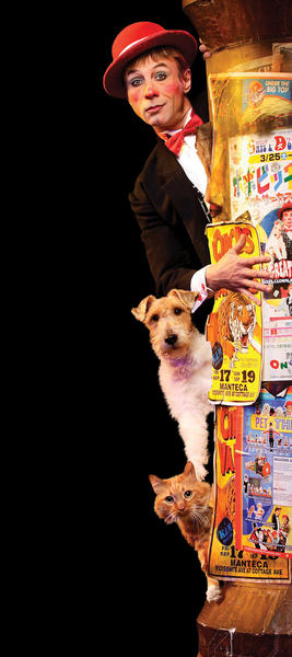Gregory Popovich performs with 16 cats and 13 dogs in Popovich Comedy Pet Theater. The show is coming to Shippensburg, Pa. on Saturday.