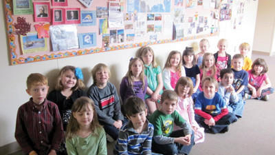 Members of Wendy Ames' class at Shade elementary are Kyley Campbell, Caleb Visinsky, Alexis Stoppe, Ashlynn King, Daniel Rayman, Caleb Kline, Naomi Furlong, Micah Beish, Jeremiah Swallow, Stacy DeMarco, Tyler Burkett, Cooper Stigers, Coutney Custer, Anthony Harmon, Haley Fisher, Shae Marie Snyder, Alena Dabbs, Kaitlin Fisher and Tara Corradini.
