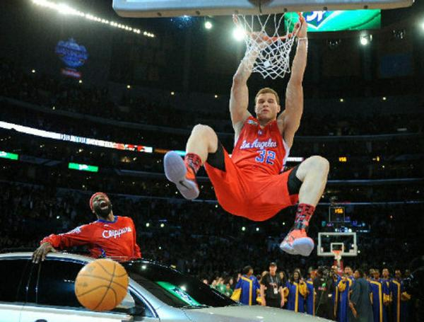 Clippers' Blake Griffin dunks over a car in 2011 -- and demonstrates how over-the-top the NBA's All-Star dunk contest has become.