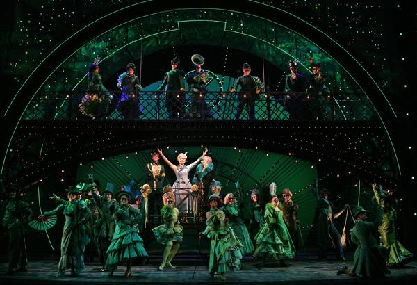 "The cast of ""Wicked"" at Segerstrom Center for the Arts."