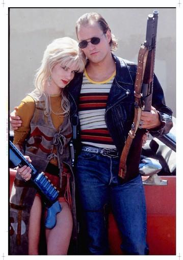 "Juliette Lewis and Woody Harrelson in ""Natural Born Killers."""