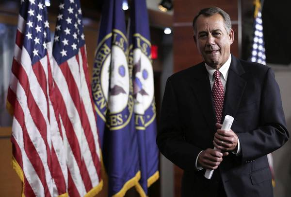 House Speaker John A. Boehner (R-Ohio) says across-the-board federal spending cuts are likely to kick in March 1 unless Democrats agree to serious long-term spending reductions.