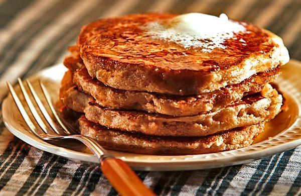 Whole wheat pancakes.