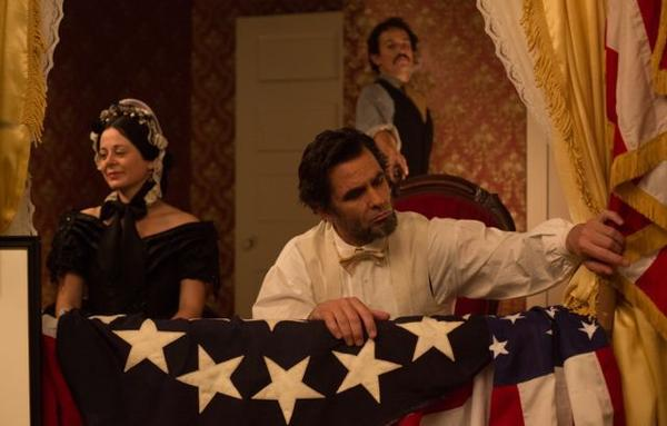 "Geraldine Hughes, Billy Campbell and Jesse Johnson star in ""Killing Lincoln"" on National Geographic Channel."
