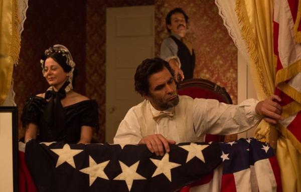 """Geraldine Hughes, Billy Campbell and Jesse Johnson star in """"Killing Lincoln"""" on National Geographic Channel."""