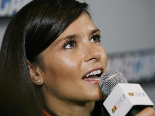 during NASCAR Media Day at Daytona International Speedway on Thursday, February 14, 2013.