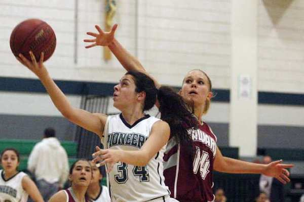 Providence's Kattia Dabbaghian contributed seven steals to the Pioneers' overwhelming defense.