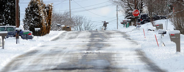 Lehigh Valley Residents in Plainfield Township,  begin to dig out from the snow storm on February 13, 2013. More snow is on the way this weekend.