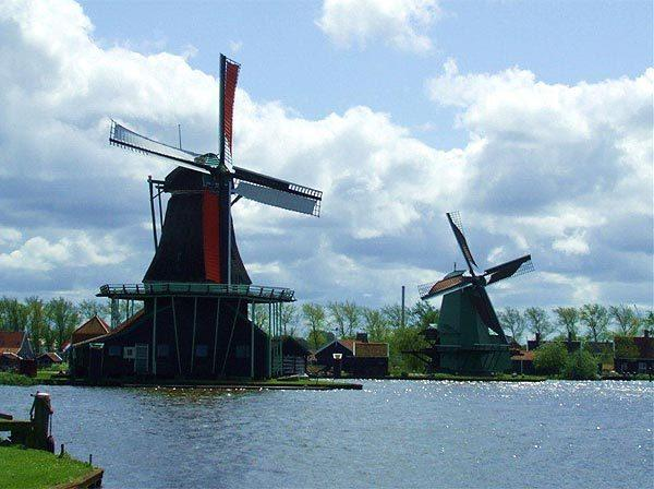 This photo was taken by Kathleen Haley during a trip to The Netherlands. In the town of Zaandam, north of Amsterdam, we saw these windmil