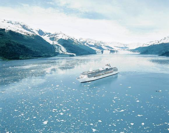 The Coral Princess cruse ship in Alaska.