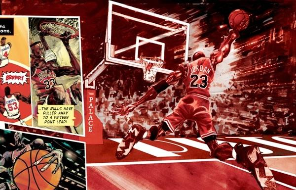 "Image from ""Michael Jordan: Bull on Parade"" by Wilfred Santiago."