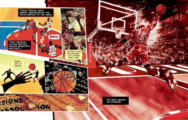 """Image from """"Michael Jordan: Bull on Parade"""" by Wilfred Santiago."""
