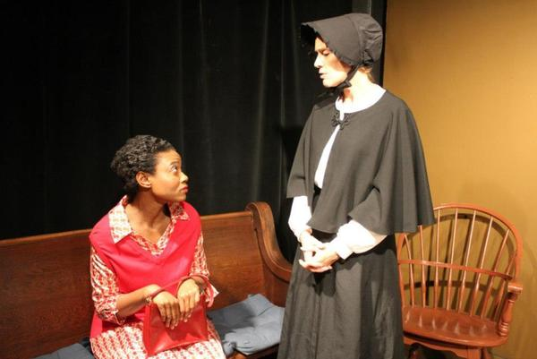 "Lory Reyes plays Sister Aloyious Beauvier and Shani Louis stars as Mrs. Muller in ""Doubt: A Parable"" at Andrews Living Arts Studio in Fort Lauderdale's F.A.T. VIllage."