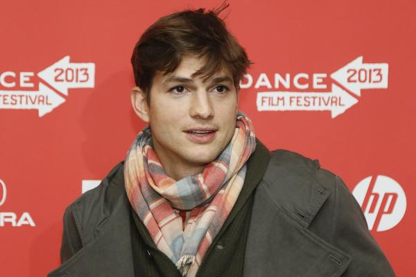 "Actor Ashton Kutcher, who portrays Apple's Steve Jobs in the film ""jOBS,"" poses at its premiere during the 2013 Sundance Film Festival in Park City, Utah."