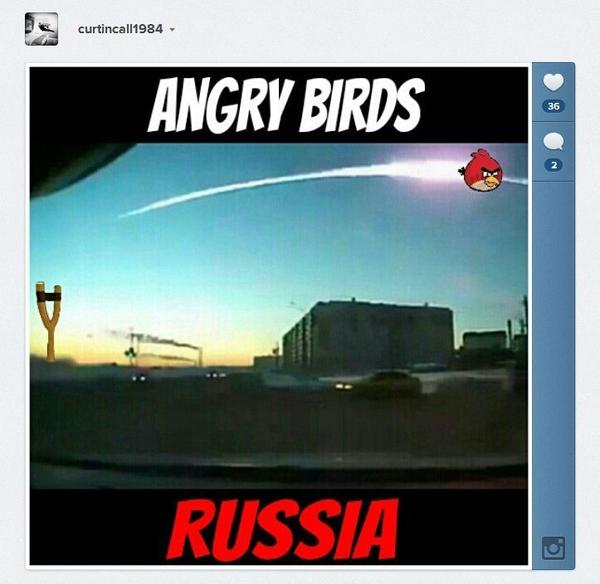 A user on Instagram made a meme of the Russian meteor.