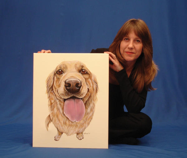 Sheila Mace of Martinsburg, W.Va., is painting a series of paintings of 100 breeds of dogs.