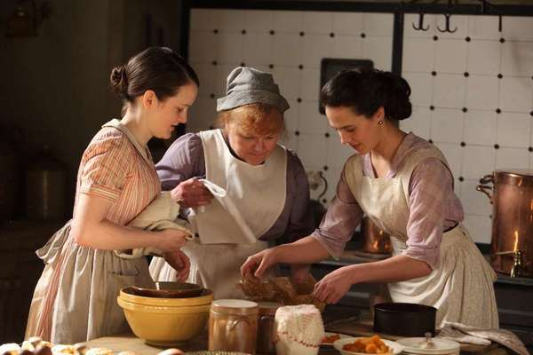"""Downton Abbey's"" Mrs. Patmore, center, with Daisy, left, and the late Lady Sybil."