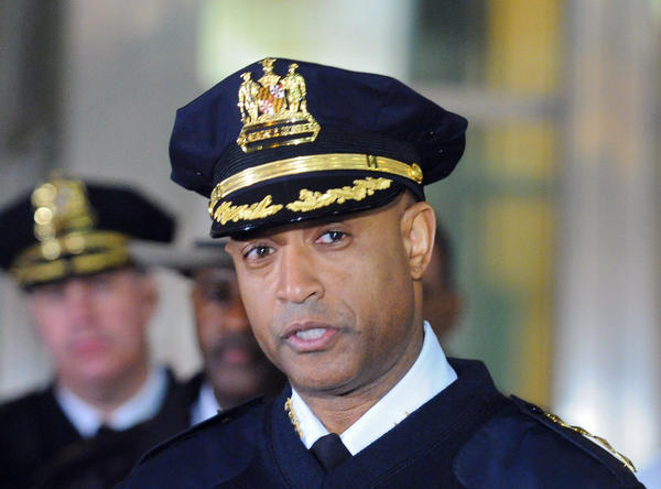 Baltimore Police Commissioner Anthony W. Batts speaks during a press conference outside Maryland Shock Trauma Center, after a University of Maryland campus police officer was critically wounded when he was shot in the head by an instructor during a training exercise with Baltimore police.