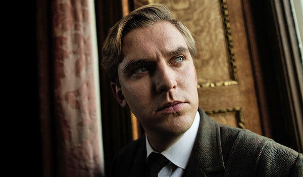 "Dan Stevens during filming of Season 3 of ""Downton Abbey."""