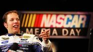 Brad Keselowski strolled through the Daytona 500 Club with his cell phone in one hand and a half-empty bottle in the other.