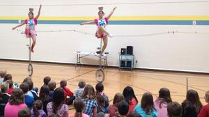 A group of Chinese acrobats shares culture with Boones Mill Elementary students