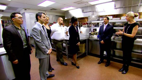 "Five candidates vie for an assistant manager position with the Palm Restaurant Group on the CBS reality competition series ""The Job."""