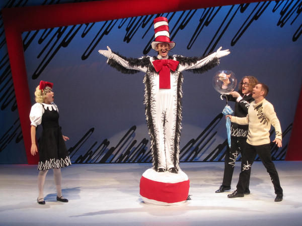 "Sage Starkey (center) stars in ""The Cat in the Hat,"" with (from left), Lyndsey Wilkerson, Wesley Slade and Nick Rishel."