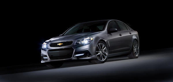 Chevrolet plans to unveil the SS sedan Saturday at the Daytona International Speedway. The rear-wheel-drive car has a 6.2-liter V-8 from the outgoing Corvette, which makes 415 horsepower.