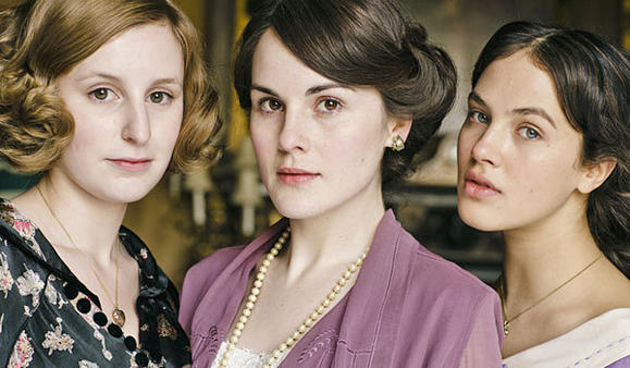 From left, Laura Carmichael, Michelle Dockery and Jessica Brown-Findlay in 'Downton Abbey'