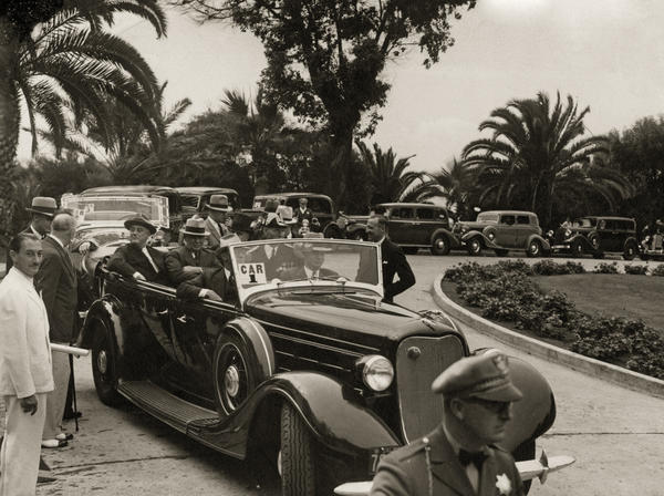 Several presidents have visited the Del, including Benjamin Harrison, William Taft and Bill Clinton. President Franklin Roosevelt (in the back seat at left) is shown here arriving at the hotel in 1935.