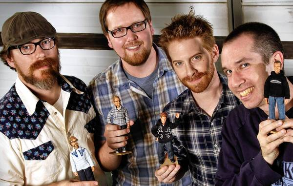 Stoopid Buddy Stoodios co-owners, John Harvatine IV, left, Eric Towner, Seth Green and Matt Senreich.