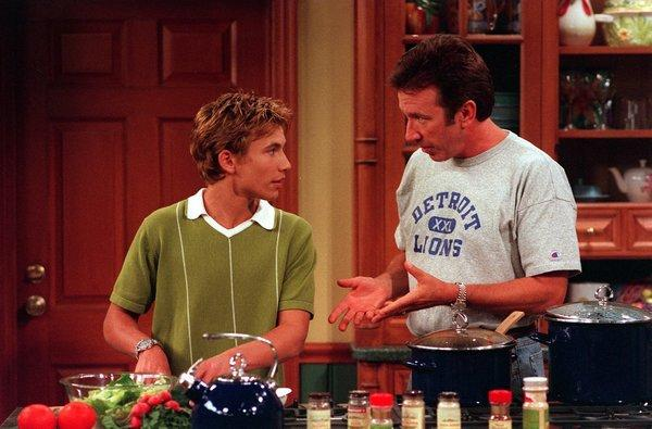 """Home Improvement"" reunion! Jonathan Taylor Thomas, left, will rejoin Tim Allen, who played his dad on ""Home Improvement,"" on Allen's comedy ""Last Man Standing."""
