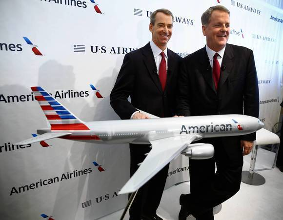 American Airlines CEO Tom Horton and US Airways CEO Doug Parker