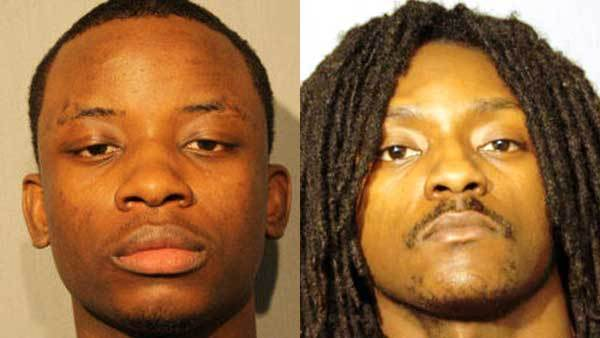Booking photos of Clyde Jackson, left, and Anthony Robinson.