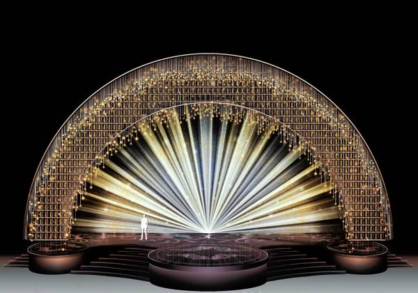 A rendering of the Oscar stage for 2013.