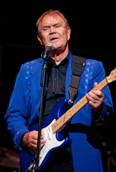 Glen Campbell performs on his Goodbye Tour at Irvine Auditorium at the University of Pennsylvania in Philadelphia, Pennsylvania, on September 15, 2011.