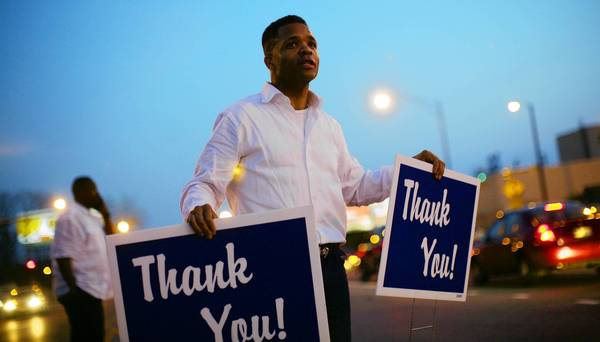 Former U.S. Rep. Jesse Jackson Jr., shown thanking South Side voters after winning the Democratic primary in March, was considered a wunderkind in Chicago politics before a scandal over President Barack Obama's former Senate seat and ethics investigations rocked his reputation.