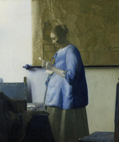 "Johannes Vermeer's ""Woman in Blue Reading a Letter."""