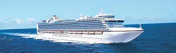 The Emerald Princess departs from Port Everglades.