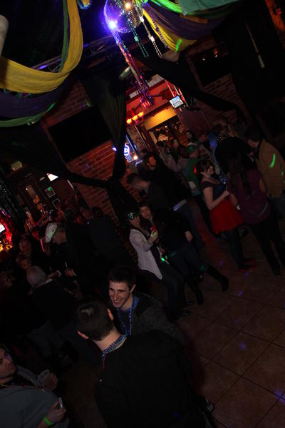 Mardi Gras Pub Crawl in downtown Hartford Saturday night,hosted by Radio 104.1.