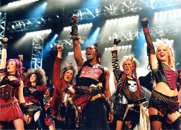 "The cast of ""We Will Rock You."""