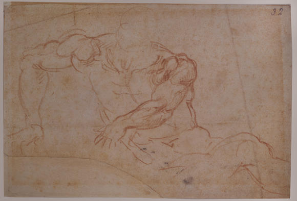 "Michelangelo created this circa 1532 study of a soldier for a work known as the ""Resurrection of Christ."""