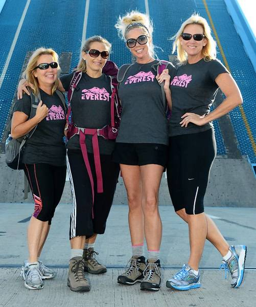 Left to right, Jill Taylor, Tina Yeager, Jen Klaassens, Debbie Dingle to climb Mount Everest.