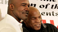 Evander Holyfield and Mike Tyson at Chicago grocery store